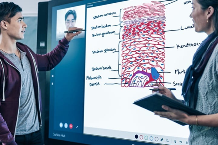 Using crowdbeamer with Microsoft Surface Hub